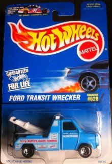 Hot Wheels 1997 #620 FORD TRANSIT WRECKER Toys & Games