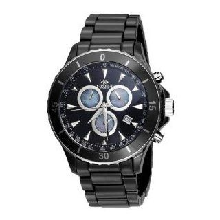 Oniss #ON621 M1 Men's Black Ceramic Deluxe Collection Sports Chronograph Watch Watches