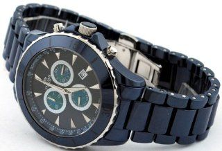 Oniss #ON621 M2 Men's Blue Ceramic Deluxe Collection Sports Chronograph Watch Watches