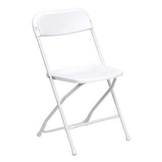 Hercules Series Plastic Folding Chair (Set of 24) Quantity Set of 40, Color White
