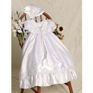 Baby Girls White Lady of Guadalupe Christening Gown Bonnet Set 12 18M Angels Garment Clothing