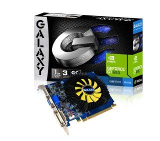 Galaxy GeForce GT 630 GC 1 GB DDR3 PCI Express 2.0 DVI/HDMI/VGA Graphics Card, 63TGS8HX3VVZ Graphics Cards 63TGS8HX3VVZ Electronics