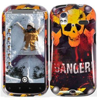 Danger Hard Case Cover for HTC Amaze 4G Cell Phones & Accessories
