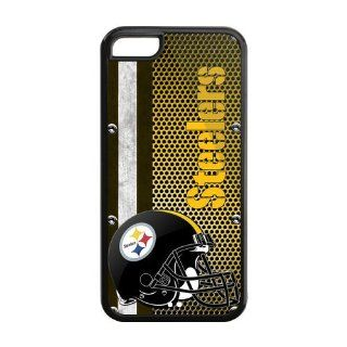 customcasestore Custom Unique Design NFL Pittsburgh Steelers Prepare Combat Slim Fit Iphone 5C Plastic And TPU Silicone Back Case For Christmas Gifts Cell Phones & Accessories