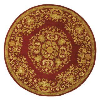 Shop Safavieh Heritage Collection HG640B Handmade Black Hand Spun Wool Area Rug, 6 Feet, Round at the  Home D�cor Store. Find the latest styles with the lowest prices from Safavieh