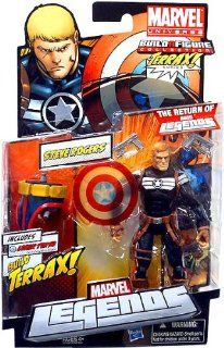 Marvel Legends 2012 Series 1 Action Figure Steve Rogers {Clear Shield Variant} [Terrax Build a figure Piece]