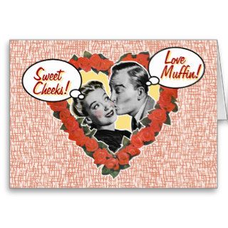 Customizable Pet Name Retro Valentines Day Card
