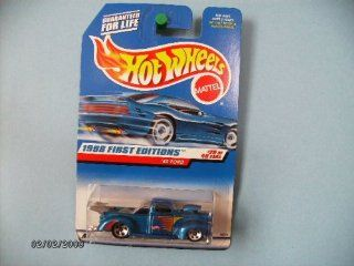 Hot Wheels 1940 Ford #20 of 40 Collector #654 Dark Blue with Chrome Base Toys & Games