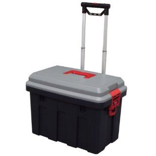 Storage Trunk w/ Wheels & Extendable Handle Rolling Garage Storage Box RV 650   Garage Storage And Organization Products