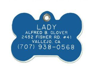 Bone Shaped Dog Cat Pet ID Tag Custom Engraved Acrylic Plastic 6 Colors & 3 Sizes to Choose From (Message Seller with Engraving Information)  Pet Identification Tags