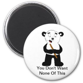 Cartoon Panda Eating Bamboo Fridge Magnet