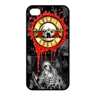 Cool Customized Famous The Hard Rock Band Guns N' Roses Iphone 4 4s Case Cover ,Rubber Shell Hard Back Cases Gift Idea At CBRL007 Cell Phones & Accessories