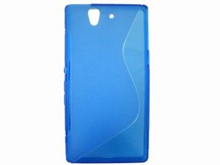 S Line TPU Case Skin Cover for Sony Xperia C660X C6603 Yuga Blue Cell Phones & Accessories