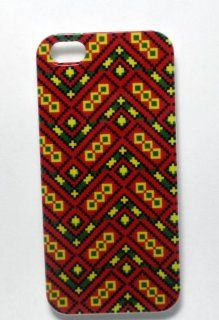 Ankara iPhone Case   Red Hard Unique Latest Uncommon Colorful African Print Design Cover For Your iPhone 5   For Men, Women, Girls And Boys   Stylish and Perfect Fit   For Your AT&T, Verizon, Sprint Device Great Lifetime Guarantee. Cell Phones & A