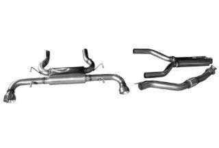Cat Back Exhaust Kit for Pontiac Solstice N/A Dual performance Exhaust Mach With Resonator Kit Automotive