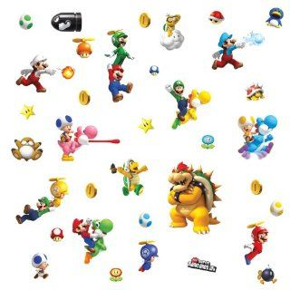 ROOMMATES 673SCS Nintendo Super Mario Peel and Stick Wall Decals   Childrens Wall Decor