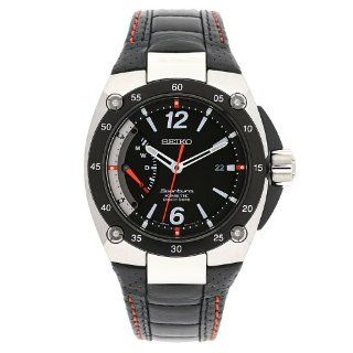 Seiko Men's SRG005P2 Sportura Stainless Steel Black Dial Automatic Leather Strap Watch Sportura Watches
