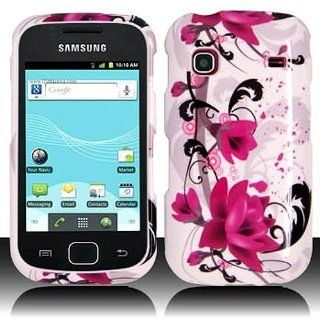 Pink White Flower Hard Cover Case for Samsung Repp SCH R680 Cell Phones & Accessories