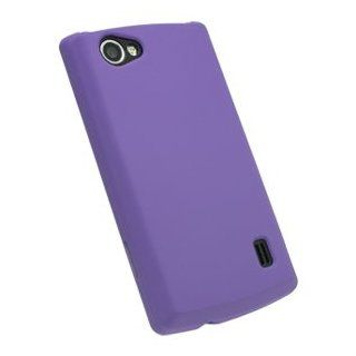 Purple Rubberized Hard Case Cover for LG Optimus M+ MS695 Cell Phones & Accessories