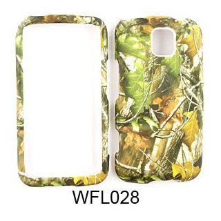 LG Optimus M MS690 Camo/Camouflage Hunter Series, w/ Green Leaves Hard Case/Cover/Faceplate/Snap On/Housing/Protector Cell Phones & Accessories