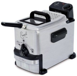 Emeril by T fal FR702D001 1.8 Liter Deep Fryer with Integrated Oil Filtrati Kitchen & Dining