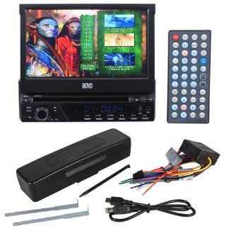 "Boyo AVS703 7"" Touch Screen Single Din Bluetooth DVD/IPOD/USB/SD Car Stereo With Divx Playback  Vehicle Dvd Players"