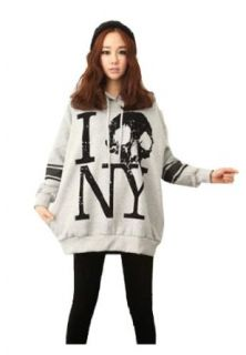CA Fashion Women's Skull Head Pullover Hoodies Outerwear