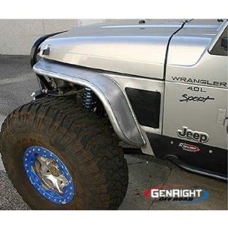 Gen Right TFF 2800 Boulder Series Tube Front Fender Flare 6in For 1997 06 Jeep Wrangler Automotive