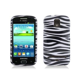 Black White Zebra Stripe Hard Cover Case for Samsung Galaxy S Relay 4G SGH T699 Cell Phones & Accessories