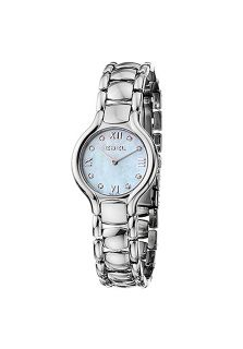 Ebel 9157421/49850  Watches,Womens Beluga Stainless Steel Light Blue Mother of Pearl Diamond Dial, Luxury Ebel Quartz Watches