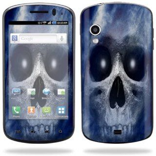 Protective Vinyl Skin Decal Cover for Samsung Stratosphere SCH i405 Cell Phone Sticker Skins Haunted Skull Cell Phones & Accessories