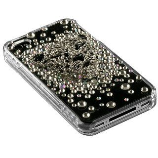 Apple Iphone 4 Iphone 4S White Leopard Crystal 3D Diamante Diamond Protector Cover (with Package) Phone Protector Cover Case (Free Microseven Logo Gift) Cell Phones & Accessories