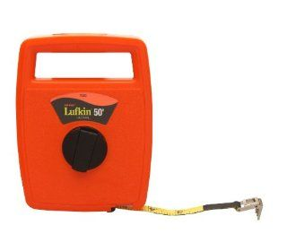Lufkin 703D 1/2 Inch by 50 Foot Engineer Foot Hi Viz Orange Linear Fiberglass Tape   Tape Measures