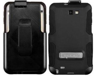 Seidio ACTIVE Case and Holster Combo with Metal Kickstand for Use with Samsung Galaxy Note SGH i717   Black Cell Phones & Accessories