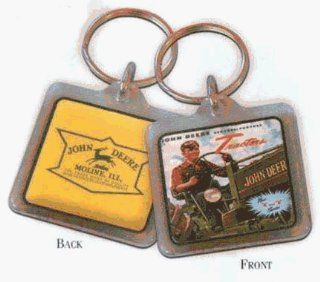 John Deere 03503 JD Picture and Logo Key Chain   Key Tags And Chains