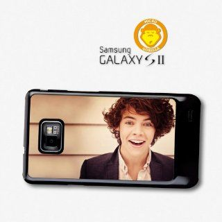 Harry Styles Smile Curly Hair Close Up One Direction 1D Directioners case for Samsung Galaxy S2 A722 Cell Phones & Accessories
