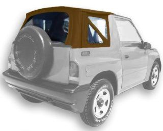 Acme C734/Clear DM1325 Spice on Tan Denim Vinyl SUV Soft Top for Suzuki Vitara / Chevrolet Tracker Automotive