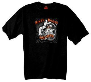Hot Leathers Hot Leathers Bikes, Boobs & Beer Short Sleeve Tee (Black, Large) Automotive