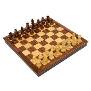"Wholesale Chess 15"" Folding Magnetic Wood Chess Set   Rosewood Finish Toys & Games"