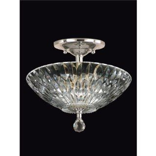 Dale Tiffany GH60718SN Lightwater Semi Flush Mount Light Fixture, Satin Nickel   Close To Ceiling Light Fixtures