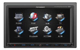 Farenheit TI 762 2 DIN Multimedia Source Unit with Motorized 7 Inch LCD Touch Screen  Vehicle Dvd Players