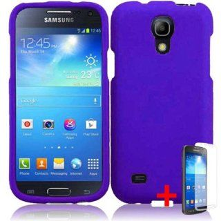 SAMSUNG GALAXY S4 MINI SOLID PURPLE RUBBERIZED COVER SNAP ON HARD CASE +FREE SCREEN PROTECTOR from [ACCESSORY ARENA] Cell Phones & Accessories