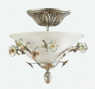 Yosemite MGJ768 Three Light Down Lighting Semi Flush Ceiling Fixture from the Morning Glory Coll, Caribbean Gold   Close To Ceiling Light Fixtures