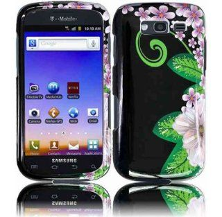 Black Purple Flower Hard Cover Case for Samsung Galaxy S Blaze 4G SGH T769 Cell Phones & Accessories