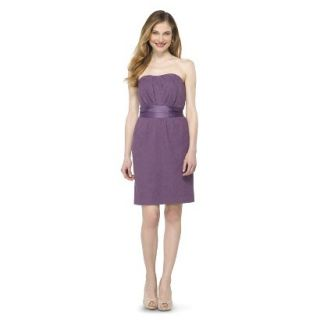 TEVOLIO Womens Lace Strapless Dress   Plum Spice   4