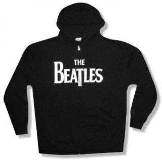"The Beatles ""White Logo"" Black Zip Up Hoodie Sweatshirt New Adult (Small) Clothing"