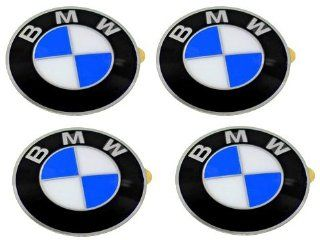 BMW Wheel center cap Emblems (4) insignia badge 64.5mm OEM e46 e60 e90 e92 Automotive