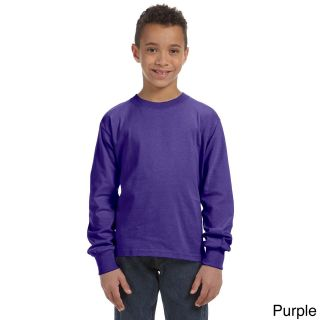 Fruit Of The Loom Fruit Of The Loom Youth Heavy Cotton Hd Long Sleeve T shirt Purple Size L (14 16)