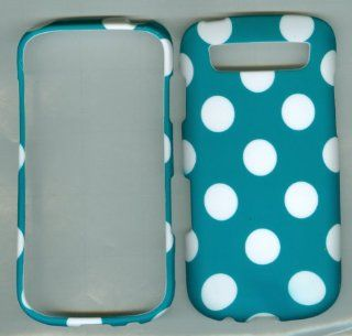 For Samsung Galaxy S Blaze 4g Sgh t769  (T mobile) Turquoise Polka Dots Snap on Glossy Crystal Skin Case for Samsung Galaxy S Bl Cell Phones & Accessories