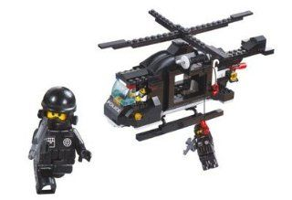 SLUBAN RIOT POLICE ALL PURPOSE HELICOPTER 219 PIECE SET LEGO COMPATIBLE